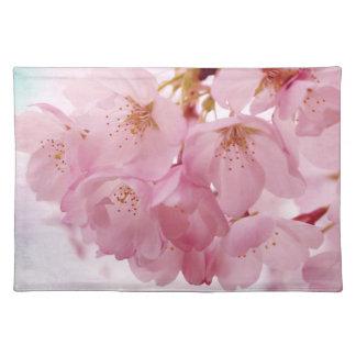 柔らかいヴィンテージのピンクの桜 ランチョンマット