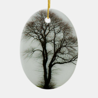 柔らかい冬の木 セラミックオーナメント