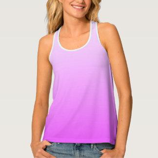 柔らかい勾配色-ネオンのピンク + あなたのアイディア タンクトップ