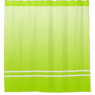 柔らかい勾配色-春の緑 + あなたのアイディア シャワーカーテン