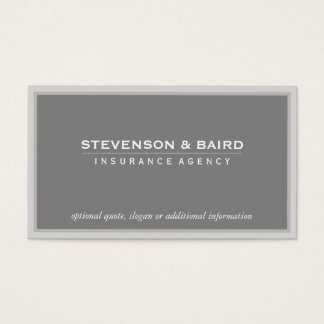 柔らかい暗灰色の保険の代理業カード 名刺