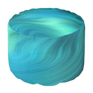 柔らかい波の青緑色の青 + あなたのアイディア プーフ