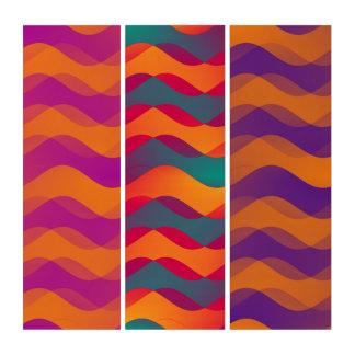 柔らかい波パターン-多彩の基本的なオレンジ トリプティカ