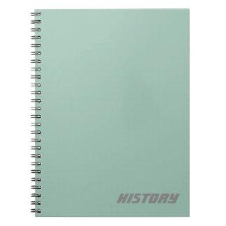 柔らかい淡いブルーの主題か名前のノート ノートブック