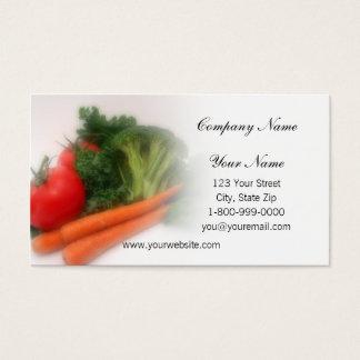 柔らかい焦点の農産物の名刺 名刺