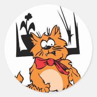柔らかい猫 ラウンドシール