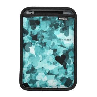 柔らかい空色のかわいいのハートの背景 iPad MINIスリーブ