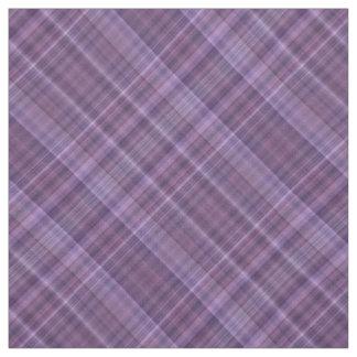 柔らかい紫色の格子縞 ファブリック