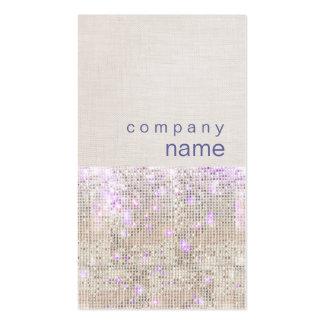柔らかい紫色の銀製のスパンコールの美しいのスタイリスト スタンダード名刺