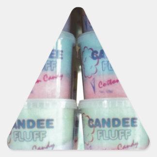 柔らかい綿菓子 三角形シール