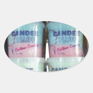 柔らかい綿菓子 楕円形シール