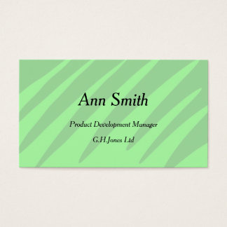 柔らかい緑の陰のデザインの名刺 名刺
