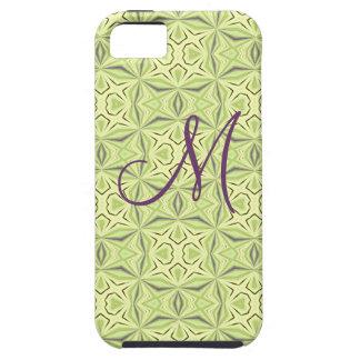 柔らかい緑のGeoパターン穹窖のiPhone 5つのケース iPhone SE/5/5s ケース