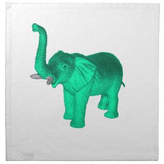 柔らかい緑象 ナプキンクロス