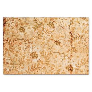 柔らかい色の花模様 薄葉紙