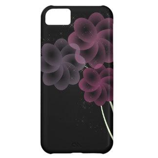 柔らかい花のグリッター iPhone5Cケース