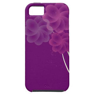 柔らかい花のグリッター iPhone SE/5/5s ケース