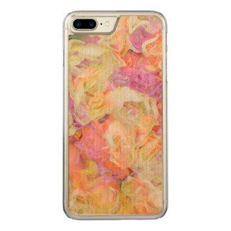 柔らかい花柄、(i)バラ carved iPhone 8 plus/7 plus ケース