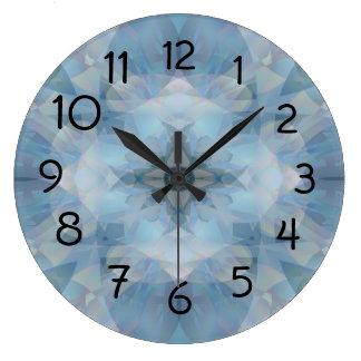 柔らかい花 ラージ壁時計