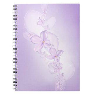 柔らかい薄紫の花のノート ノートブック