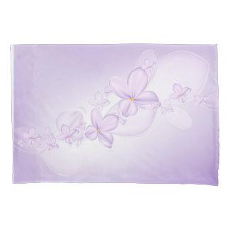 柔らかい薄紫の花(1つの側面)の枕カバー 枕カバー