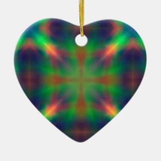 柔らかい虹はXによって形づけられる抽象デザインをつけます セラミックオーナメント