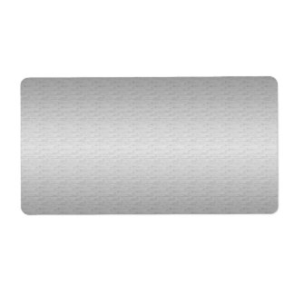 柔らかい銀製のテンプレート ラベル