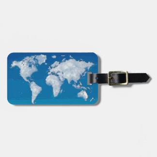 柔らかい雲の世界地図 ラゲッジタグ