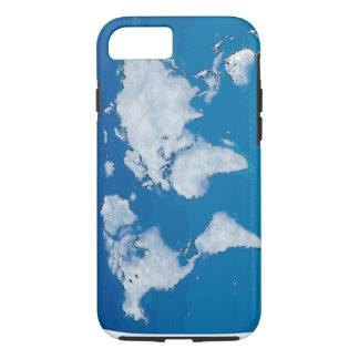 柔らかい雲の世界地図 iPhone 8/7ケース
