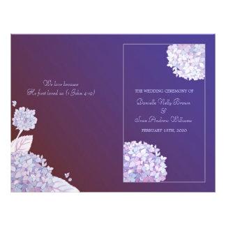 柔らかい|アジサイ|深い|紫色|結婚|折られる|プログラム
