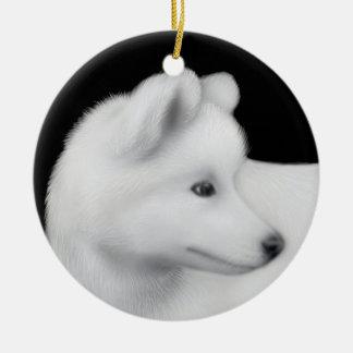 柔らかいSamoyed犬のオーナメント セラミックオーナメント