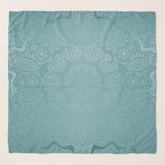 柔らかいSmokeyのスカイブルーの曼荼羅のシフォンのスカーフ スカーフ