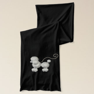 柔らかく白いプードルのスカーフ スカーフ