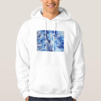 柔らかく青い羽毛製の襟巻 パーカ