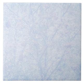柔らかく青い色合いのナナカマドパターン タイル