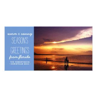 柔らかく青く明るいクリスマスの休日の挨拶状 カード