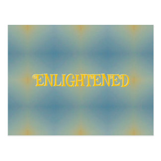 柔らかく青く黄色いライフスタイル「啓発された」禅 ポストカード
