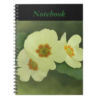 柔らかく黄色いサクラソウの花 ノートブック