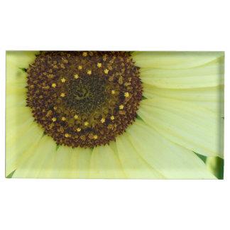 柔らかく黄色いヒマワリ テーブルカードホルダー