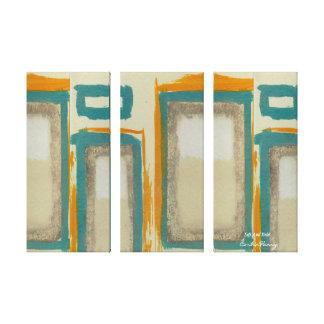 柔らかく、はっきりしたなRothkoの刺激を受けたな垂直抽象芸術 キャンバスプリント