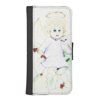 柔らかく、夢みるような少し天使- iPhoneSE/5/5sウォレットケース