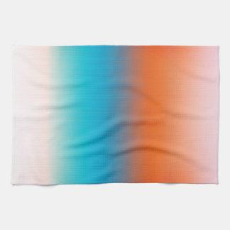 柔らかさはオレンジ青いベージュ白いパターンにある調子を与えました キッチンタオル