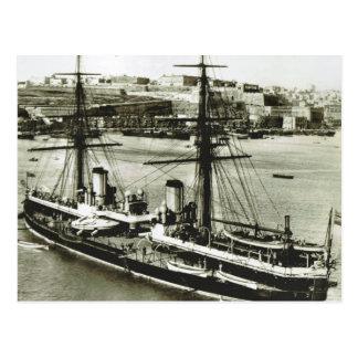 柔軟性がない歴史的な船HMS ポストカード