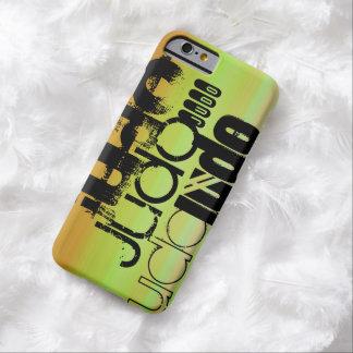 柔道; 鮮やかな緑、オレンジ、及び黄色 iPhone 6 ベアリーゼアケース