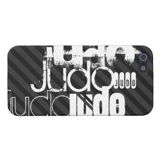 柔道; 黒及びダークグレーは縞で飾ります iPhone 5 カバー