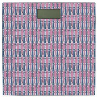 柱のピンクの重量のスケール 体重計
