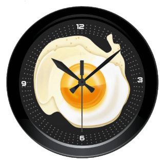 柱時計のポーチドエッグ鍋 ラージ壁時計