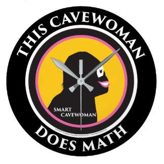 柱時計の数学の頭が切れるなキャットウーマン ラージ壁時計