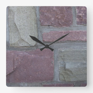 柱時計の煉瓦 スクエア壁時計