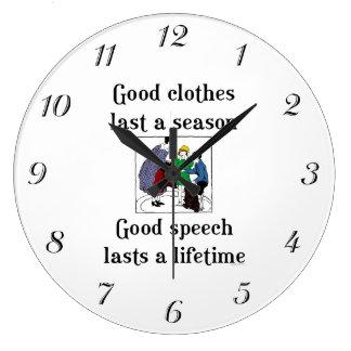 柱時計を言うよいスピーチの学校 ラージ壁時計